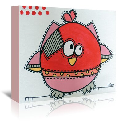 Americanflat 'Red Birdz 1' by Annie Rodrigue Graphic Art Wrapped on Canvas