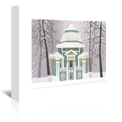 Americanflat 'A Winter Scene' by Advocate Art Graphic Art Wrapped on Canvas