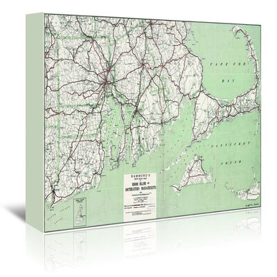 Americanflat 'Cape Cod and Ri' by Graffi Tee Studios Graphic Art Wrapped on Canvas