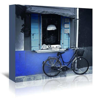 Americanflat 'Burano Bike in Blue' by Graffi Tee Studios Photographic Print Wrapped on Canvas