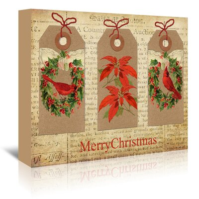 Americanflat Chritmas Gift Tags' by Advocate Art Graphic Art Wrapped on Canvas