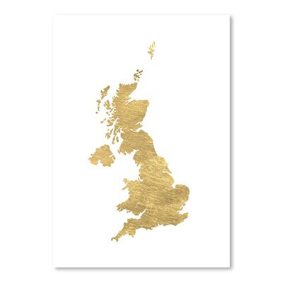 Americanflat 'UK' by Pop Monica Graphic Art