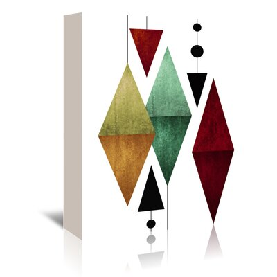 Americanflat 'Geometric Art 50' by Pop Monica Graphic Art Wrapped on Canvas