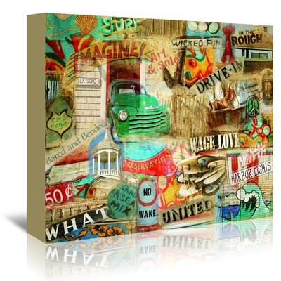 Americanflat Art & Sole' by Graffi Tee Studios Graphic Art Wrapped on Canvas