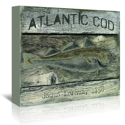 Americanflat 'Atlantic Cod' by Graffi Tee Studios Vintage Advertisement Wrapped on Canvas