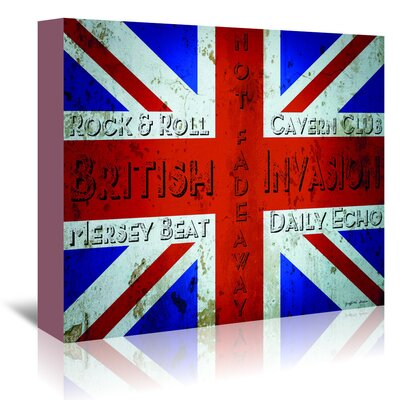 Americanflat 'British Invasion' by Graffi Tee Studios Graphic Art Wrapped on Canvas