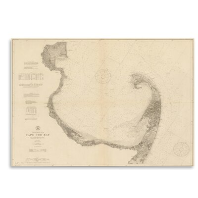 Americanflat Cape Cod Bay Map' by Graffi Tee Studios Graphic Art
