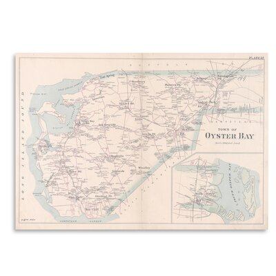 Americanflat 'Oyster Bay Long Island Map' by Graffi Tee Studios Graphic Art