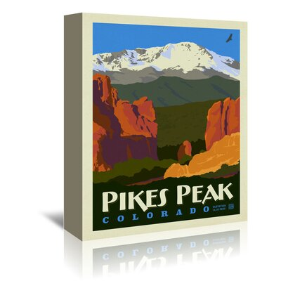 Americanflat 'ASA Pikes Peak' by Joel Anderson Vintage Advertisement Wrapped on Canvas