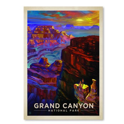 Americanflat 'KC NP Grand Canyon Sunset' by Joel Anderson Vintage Advertisement