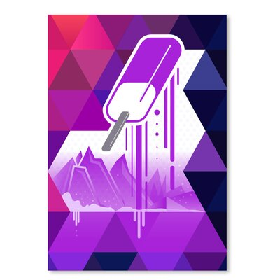 Americanflat 'Grape Popsicle' by Spires Graphic Art