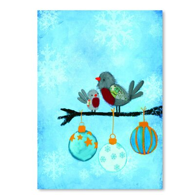 Americanflat 'Birds with Ornaments' by Advocate Art Art Print