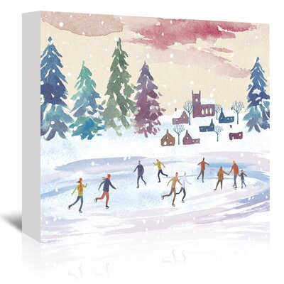 Americanflat Ice-Skating' by Advocate Art Art Print Wrapped on Canvas