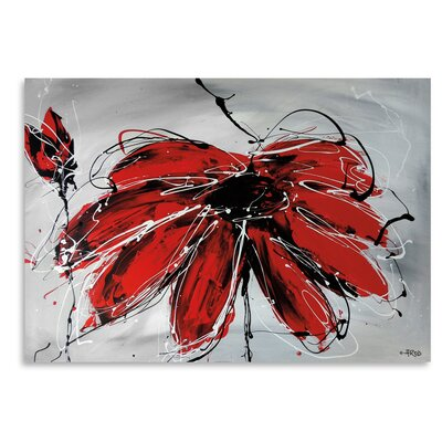 Americanflat 'Fleur De Coeur' by Annie Rodrigue Art Print