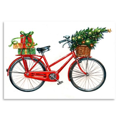 Americanflat 'Christmas Bicycle' by Advocate Art Art Print