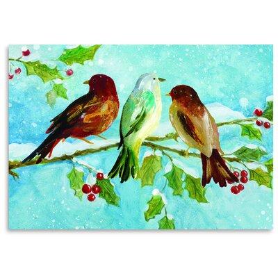 Americanflat 'Three Birds on Holly' by Advocate Art Art Print