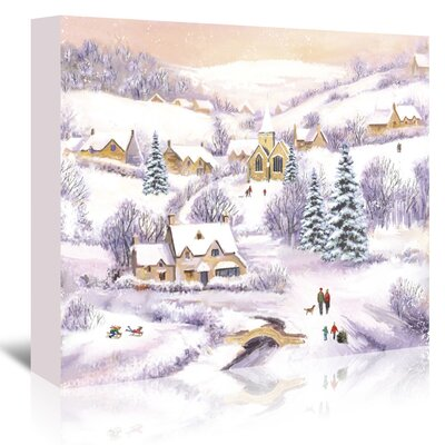 Americanflat Family Winter Scene' by Advocate Art Art Print Wrapped on Canvas