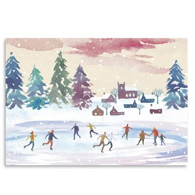 Americanflat 'Ice-Skating' by Advocate Art Art Print