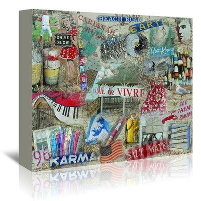 Americanflat 'Jole De Vivre' by Graffi Tee Studios Graphic Art Wrapped on Canvas