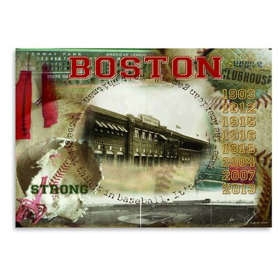 Americanflat 'Boston Clubhouse' by Graffi Tee Studios Vintage Advertisement
