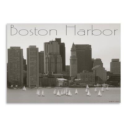 Americanflat Boston Harbor' by Graffi Tee Studios Vintage Advertisement
