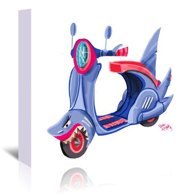 Americanflat Shark Moped' by Cara Kozik Art Print Wrapped on Canvas