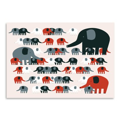 Americanflat 'Elephants' by Advocate Art Graphic Art