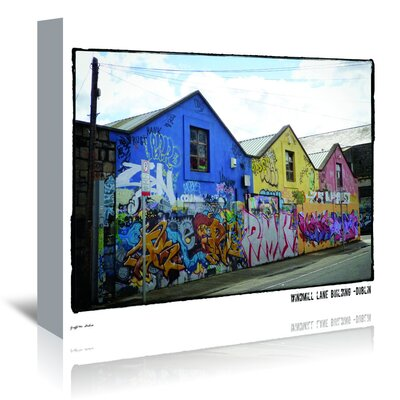 Americanflat 'Windmill Lane Building Dublin' by Graffi Tee Studios Photographic Print Wrapped on Canvas