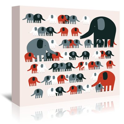 Americanflat 'Elephants' by Advocate Art Graphic Art Wrapped on Canvas