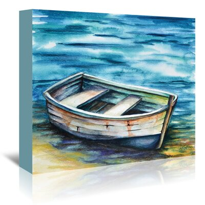 Americanflat Beached Rowboat' by JJ Galloway Art Print Wrapped on Canvas