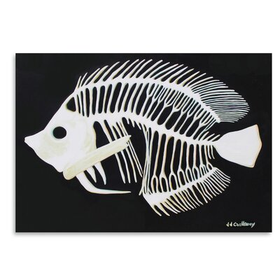 Americanflat 'Butterfly Fish Bones' by JJ Galloway Art Print