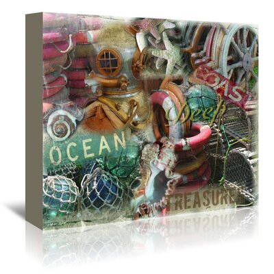 Americanflat 'Deep Treasures' by Graffi Tee Studios Graphic Art Wrapped on Canvas