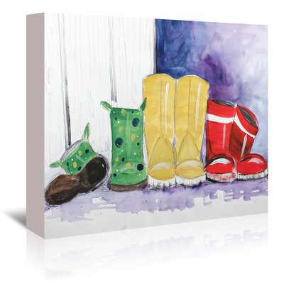 Americanflat 'Rain Boots' by Terri Einer Art Print Wrapped on Canvas