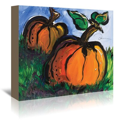 Americanflat Pumpkins' by Terri Einer Art Print Wrapped on Canvas