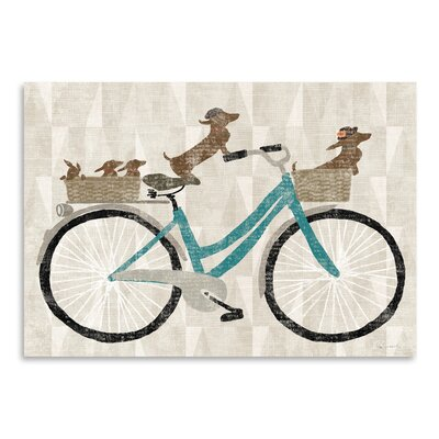 Americanflat Doxie Ride Ver II' by Wild Apple Graphic Art