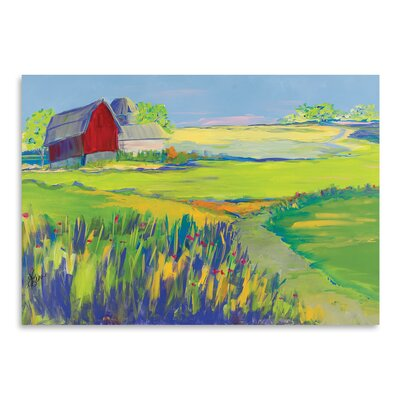 Americanflat 'Red Barn Landscape' by Terri Einer Art Print