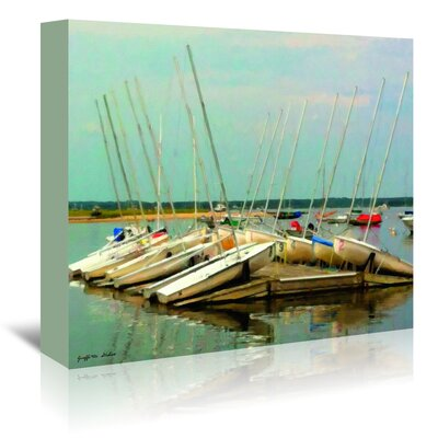 Americanflat Daysailers Painted' by Graffi Tee Studios Graphic Art Wrapped on Canvas