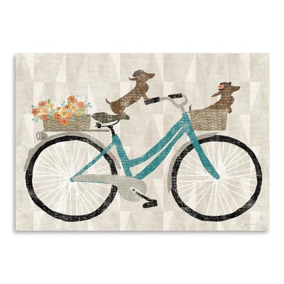 Americanflat Doxie Ride Ver I' by Wild Apple Graphic Art