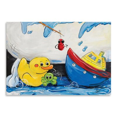 Americanflat 'Rubber Ducky and Boat' by Terri Einer Art Print