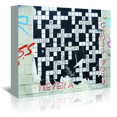 Americanflat 'Never A Cross Word' by Graffi Tee Studios Graphic Art Wrapped on Canvas