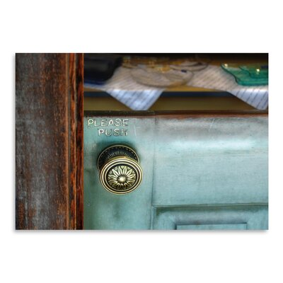 Americanflat 'Please Push' by Golie Miamee Photographic Print