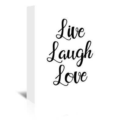 Americanflat 'Livelaughlove' by Pop Monica Typography Wrapped on Canvas