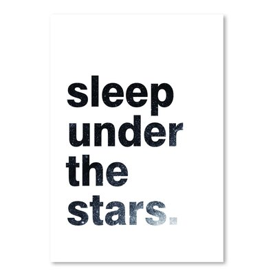Americanflat 'Sleep Under The Stars' by Pop Monica Typography