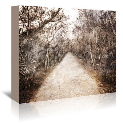 Americanflat 'Walk in Playa Mexico' by Golie Miamee Photographic Print Wrapped on Canvas