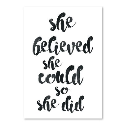 Americanflat 'She Believed She Could' by Pop Monica Typography