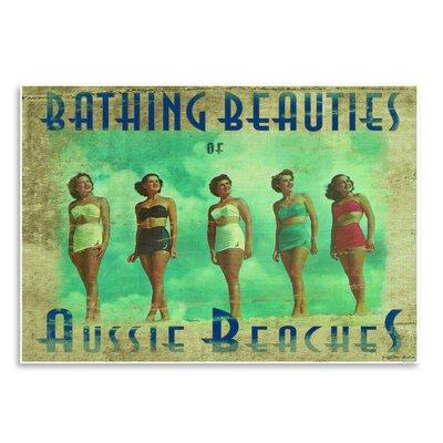 Americanflat 'Bathing Beauties of Aussie Beaches I' by Graffi Tee Studios Vintage Advertisement