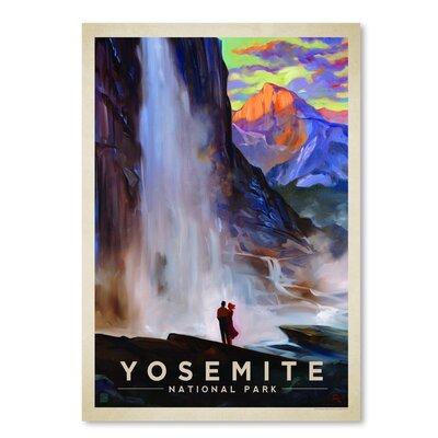 Americanflat KC NP Yosemite Falls' by Joel Anderson Vintage Advertisement