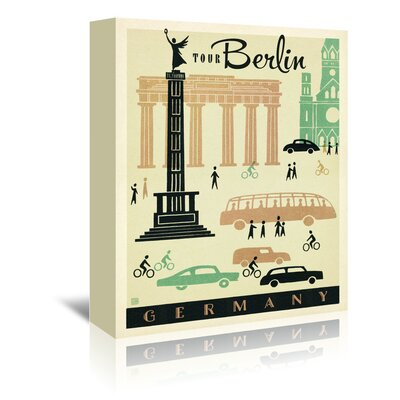 Americanflat 'WT Berlin MOD' by Joel Anderson Vintage Advertisement Wrapped on Canvas