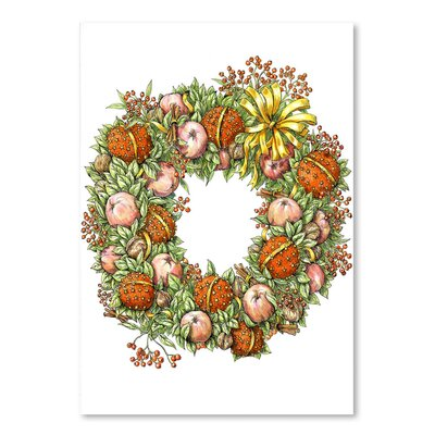 Americanflat 'Holiday Wreath' by Advocate Art Graphic Art