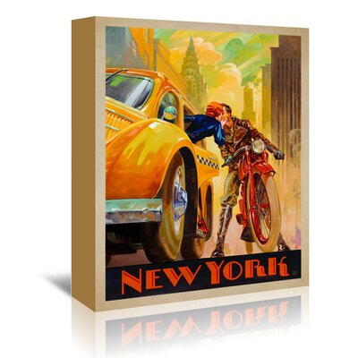 Americanflat 'New York Minute Kai Carpenter Type' by Joel Anderson Vintage Advertisement Wrapped on Canvas